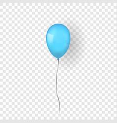 Blue balloon 3d thread isolated white vector