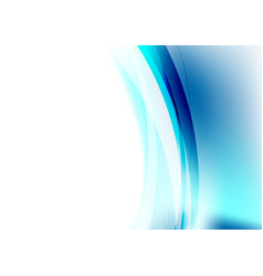 blue concept abstract waves background vector image