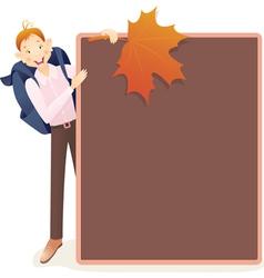Boy and school board vector image