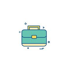 Breifcase icon design vector