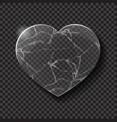 Broken heart made from glass vector image