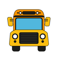 bus school transport vector image
