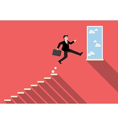 Businessman jumping to success vector image