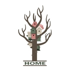 card with nesting boxes on tree vector image