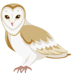 Cartoon barn owl vector