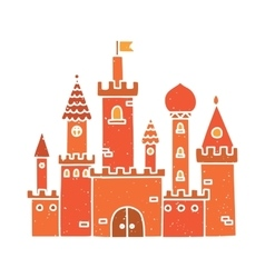 Cartoon castle isolated red vector