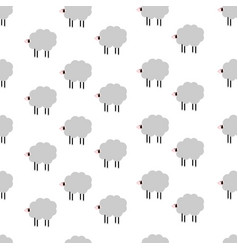 cartoon sheep pattern vector image