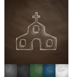 church icon Hand drawn vector image
