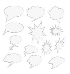 comics style speech bubbles set isolated vector image