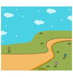 Cute landscape background vector