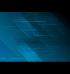 dark blue abstract technology circuit board vector image