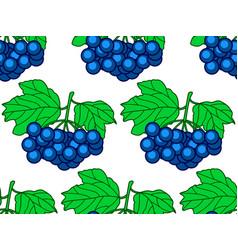 Dark blue berry pattern vector