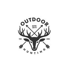 deer hunting concept template vector image