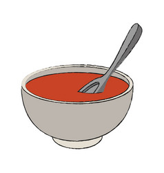 delicious dish of soup vector image