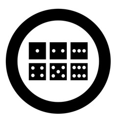 Dice nubes icon black color in circle vector
