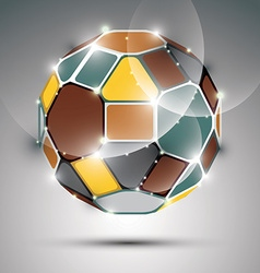 Dimensional sparkling spherical object abstract vector