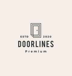 door line outline hipster vintage logo icon vector image