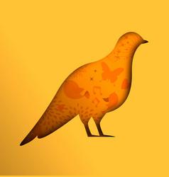 dove bird paper cutout design for peace concept vector image
