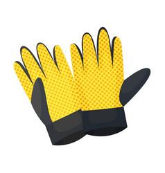 Durable garden gloves on a vector
