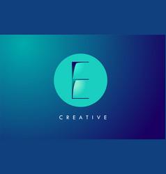 e letter logo icon design with paper cut creative vector image