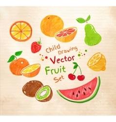 Felt pen fruit vector