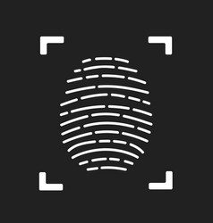 Fingerprint scanning icon for apps with security vector