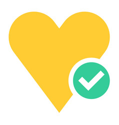Flat heart icon favorite sign liked button vector
