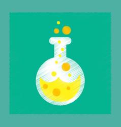 flat shading style icon halloween potion bottle vector image