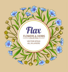 flax frame vector image