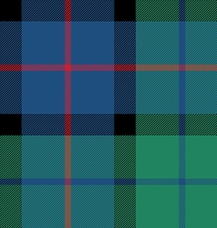 flower of scotland tartan seamless pattern fabric vector image