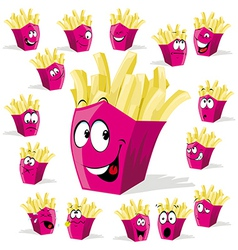 French fries cartoon vector