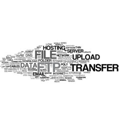 ftp word cloud concept vector image