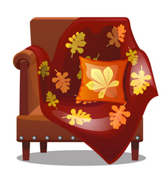 Furniture in the style of a fall soft chair vector