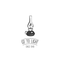Go to Light Retro Kerosene lamp Vintage paraffin vector image