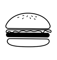 Hamburguer fast food burguer vector
