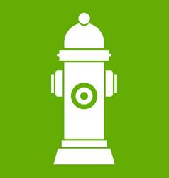 Hydrant icon green vector