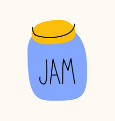 jar jam cartoon doodle stock icon in flat vector image