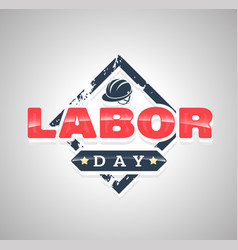 labor day text vector image