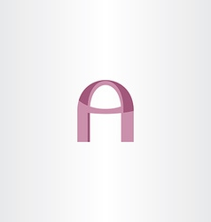 letter a purple stylized logotype vector image