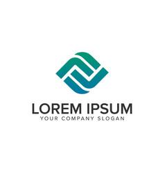 letter f modern box logo design concept template vector image