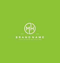 Letter mh logo design vector