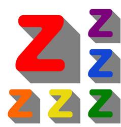 letter z sign design template element set of red vector image