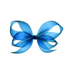 Light blue transparent bow close up on background vector