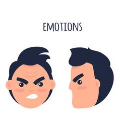 Man negative emotions flat concept vector