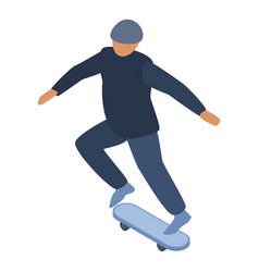 man skateboard trick icon isometric style vector image