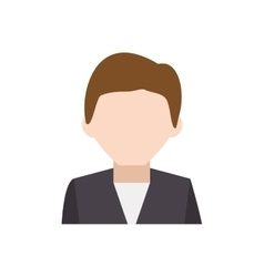 Man suit male avatar head person icon vector image