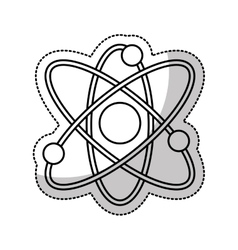 molecule structure isolated icon vector image
