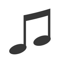 Music and melody note icon vector image