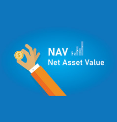 nav net asset value net value an entity and vector image