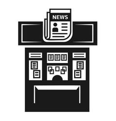 Newspaper kiosk icon simple style vector